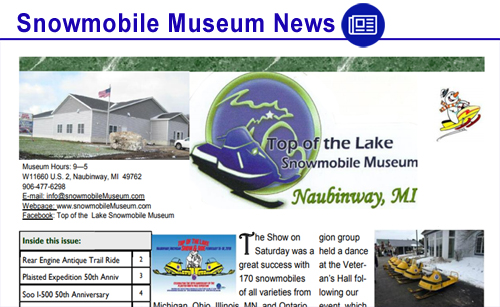 Snowmobile Museum News