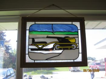 Hus Ski Stained Glass