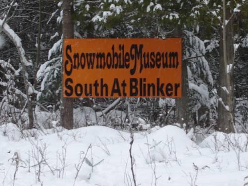 Sign along the Naubinway trail
