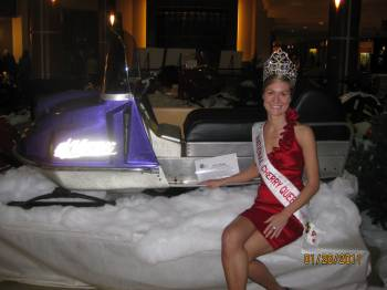 Cherry Festival Queen with the Museum Viking