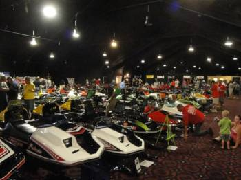 30,000 sq. ft. of snowmobiles