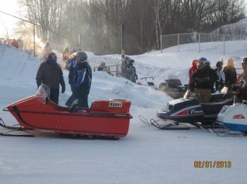 Timberwolf and vintage sleds - ready to go