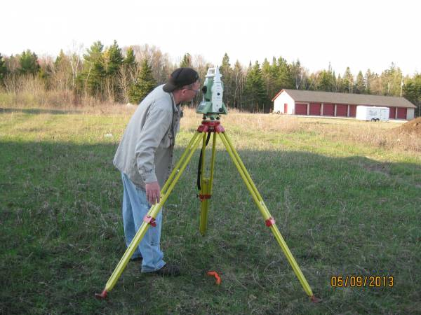 Surveying the site