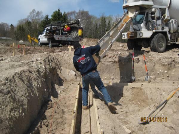Concrete crew at work