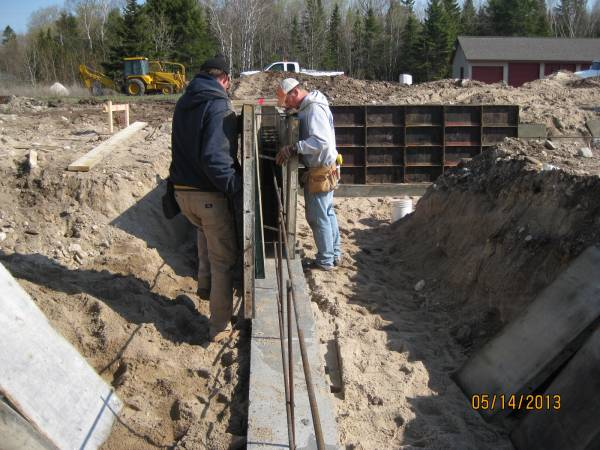 Setting the wall forms
