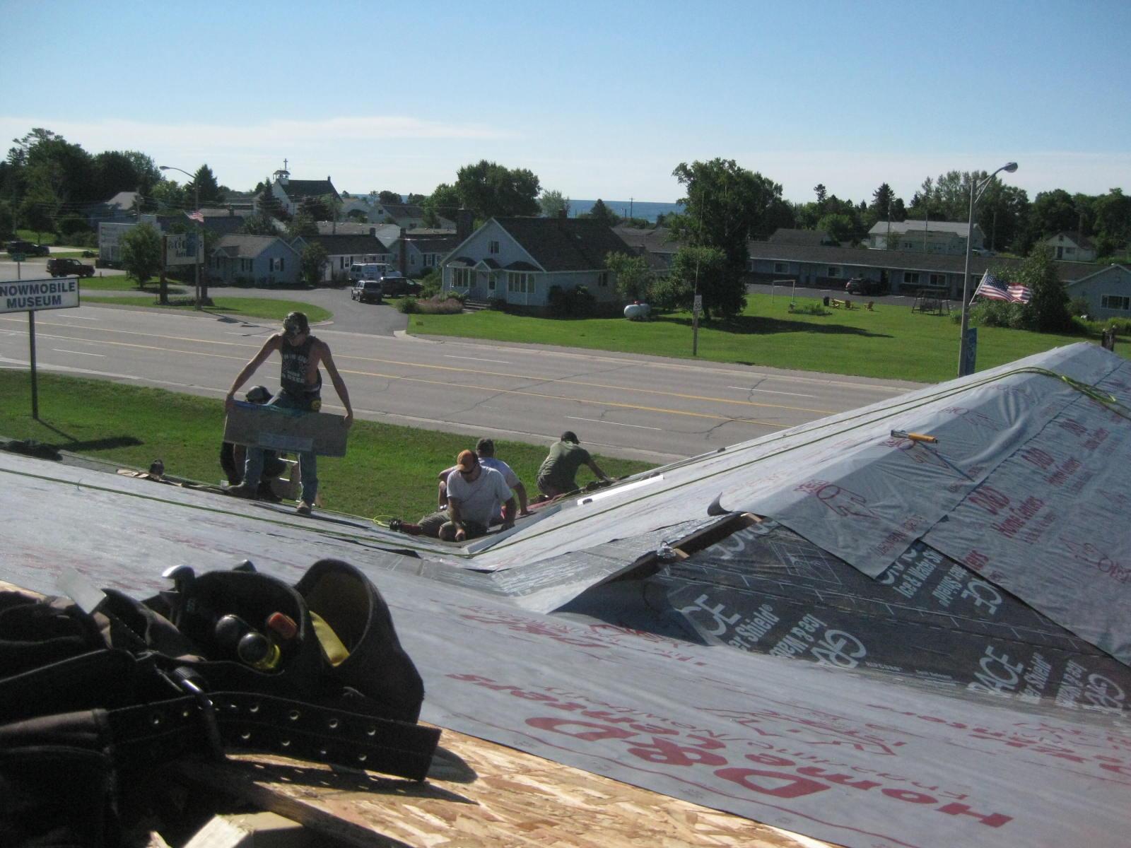 Addition roof work